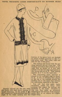The Midvale Cottage Post: Home Sewing Tips from the 1920s - Scalloped Trim f...