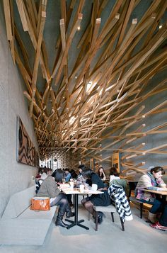 Amazing ceiling.... can you believe it's in a Starbucks in Japan?