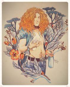 Psychedelic Art, Art Inspo, Rock Posters, Illustration Art, Art, Zeppelin Art, Fan Art, Robert Plant Led Zeppelin, Led Zeppelin Art