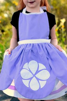 SOFIA the FIRST Costume Apron. Sample by QueenElizabethAprons