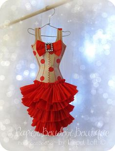 Papier Boudoir Boutique Red Spot Special by lilliputloft on Etsy, $42.00