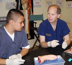 UC Davis emergency medicine residents lead high school suture lab