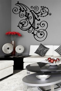 Floral Ornament-Baroque Wall Decal