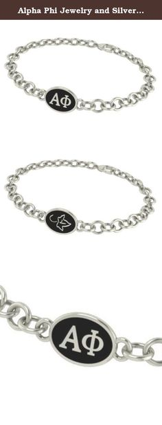Alpha Phi Jewelry and Silver Bracelets. Our Alpha Phi sorority jewelry and bracelets are made in solid sterling silver with a high quality sterling silver Antiqued charm. Our bracelets have the finest detail and are the highest quality of any Alpha Phi sorority bracelet available. In stock for fast shipping and if for some reason you don't like it? Send the bracelet back for a full refund..... Alpha Phi Silver Jewelry - Silver Link Bracelet.... Metal: Sterling Silver.... Background:...
