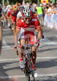 Vuelta Ciclista a Espana- © MaxiSports   Dreamstime.com - Katusha Team cyclist spanish Joaquim Purito Rodriguez rides lider during the Vuelta Ciclista a Espana cycling race in Barcelona on August 26, 2012