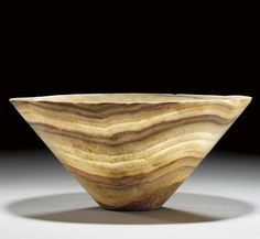 A BACTRIAN BANDED CALCITE-ALABASTER BOWL CIRCA LATE 3RD-EARLY 2ND MILLENNIUM B.C. price $7,170