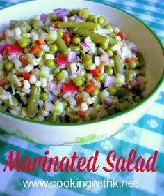 Marinated Salad, a retro vegetable salad that has stood the test of time sometimes called Shoepeg Corn Salad in the South. Marinated Salad ~ Sometimes called Shoepeg Corn Salad Dottie Pennesi I'll just have the salad . Cold Vegetable Salads, Marinated Vegetable Salads, Vegetable Dishes, Pea Salad Recipes, Vegetable Salad Recipes, Vegetarian Recipes, Cooking Recipes, Cold Corn Salad, Corn Salads