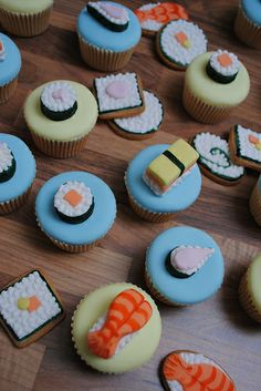 Sushi Party Cakes Cookies And Cake Pops #fooddecoration, #food, #cooking, https://facebook.com/apps/application.php?id=106186096099420