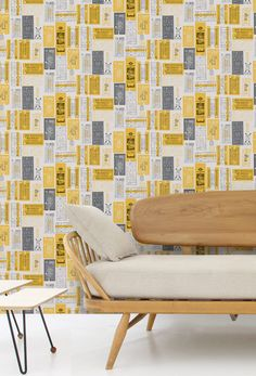 Hold Tight Wallpaper (Mustard) - from Mini Moderns