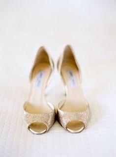 style me pretty - real wedding - usa - california - santa ynez wedding - bride - getting ready - wedding shoes - jimmy choo