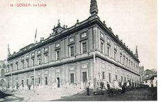 Tarjeta Postal Sevilla La Lonja facsimil (CH-67) | eBay