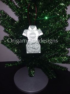 Money Origami DRESS Christmas Tree Ornament