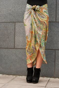 Rock, Pareo, Skirt with bow, Tuch StylesYouLove Tücher binden Guide DIY Scarf Scarves