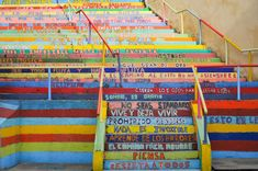 Escalera de la vida. León. España. Pintada por alumnos del colegio Marista San José.