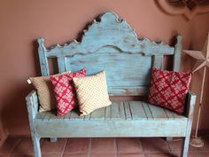 "Weathered ""Shabby Chic"" Bench"