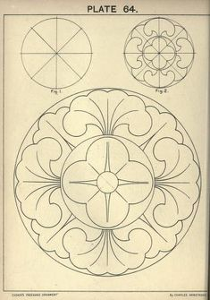 Cusack's freehand ornament. A text book with ch...this would look good on a leather concho. This also is linked to the book with lots of other design ideas