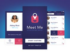 """Check out new work on my @Behance portfolio: """"Meet Me - iOS speed dating app"""" http://on.be.net/1K5RoLw"""