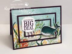 A Stacked Whale Card is a Big Deal! | Regal Stamping Stamping Up, Rubber Stamping, Small Mats, Christmas Minis, Shaker Cards, My Stamp, Stampin Up Cards, Paper Design, My Drawings