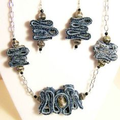 Wave Jewelry, Geometric Jewelry, Denim On from CreatingLady on