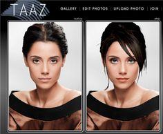 Taaz, editar imagenes online