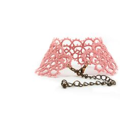 So delicate & elegant. Lace bracelet  dusty pink lace cuff by Decoromana on Etsy, $42.00