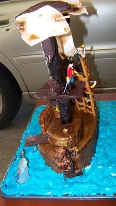 Ahoy! A Pirate ship cake