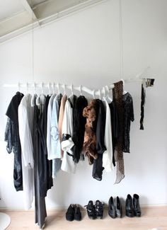 Need more closet space, looking for cheap, fun solutions