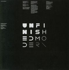 Vignelli Associates (Massimo Vignelli & Michael Bierut) — Unfinished Modern (1984)