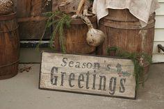 Seasons Greetings Sign