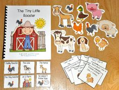 "This one is a fun one! ;) This Farm Adapted Book, ""The Tiny Little Rooster"" is super-fun and interactive story that focuses on animal sounds of farm animals. It also focuses basic comprehension skills and ""wh"" questions.  In this activity, a teacher or therapist reads the story, as students follow along and match a picture piece to each page. At the end of the story, students answer basic comprehension questions by choosing the correct answer piece that goes with each page. This book also…"