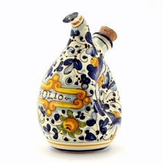 FOGLIE DI MONTELUPO: Crumpled Olive Oil Bottle Cruet [#X1515/V-FDM] FOGLIE DI MONTELUPO Collection http://www.amazon.com/dp/B00BQN7X6Y/ref=cm_sw_r_pi_dp_8YJywb1Q578E7