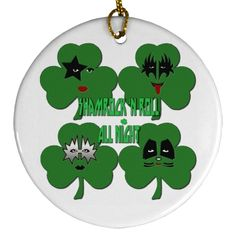 Shamrock & Roll All Night 2 Rolls, Christmas Ornaments, Night, Holiday Decor, Gifts, Design, Presents, Buns, Christmas Jewelry