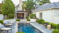 Jewel-box courtyard offers enclosure and privacy while you take a dip in the lap pool.