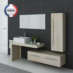 DIS9350GT Meuble salle de bain gris taupe en 2019 | Meubles de salle ...