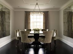 Dream Dining Room - Gray & Black, Round Dining Table, Simple & Chic