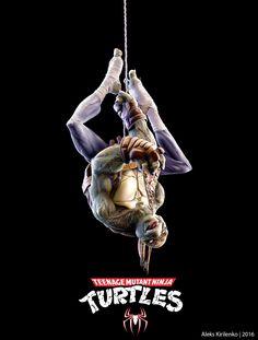 Ninja Turtle/Spider-Man by Aleks Kirilenko