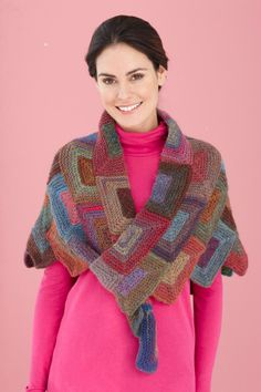 Mitered Shawl - skill level advanced - you could use all the left overs free pattern
