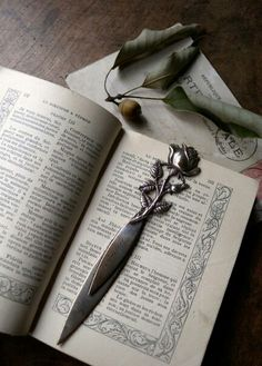 Rose handle letter opener or athame