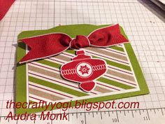 the crafty yogi: Christmas Collectibles gift card holder, stampin' up!
