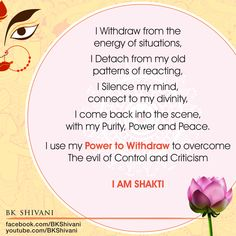 BK Sister Shivani * Globally renowned spiritual guide and mentor * Ability to analyze deep rooted emotions like ego, stress, anger, fear & presents a logical. Affirmation Quotes, Wisdom Quotes, True Quotes, Qoutes, Brahma Kumaris Meditation, Positive Thoughts, Positive Quotes, Bk Shivani Quotes, My Silence