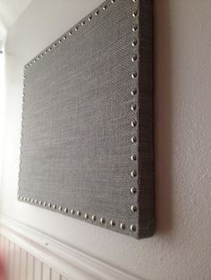 Hey, I found this really awesome Etsy listing at https://www.etsy.com/listing/191973380/grey-burlap-message-board-memo-board