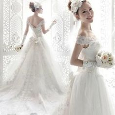 2013 New Fashion Bridal White Organza Wedding Dress Trailing Wedding Gown  With Embroidery Backless Evening Dress 4afe7b568995