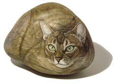 Ester Curini réalise de superbes peintures de chats peints sur pierres                                                                                                                                                                                 Plus