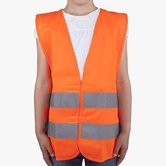 Warnweste orange Größe XS für Kinder von 3-6 Jahren