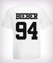 2016 moda Justin Bieber camiseta banda camisa do menino T rocha hip hop de manga curta e idade t-shirt o mais cedo possível rochoso…