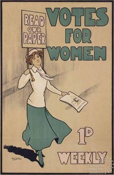 Design that fights sexism: from gender-neutral brands to protest placards Women Suffragette, Deeds Not Words, Women Right To Vote, Suffrage Movement, Women Poster, Tv Tropes, Women In History, Vintage Advertisements, Strong Women