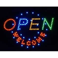 Amazon Open Welcome Flashing LED Display Sign Indoor Electronics Office Products