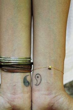 Friend Yin Yang Tattoo for Wrist