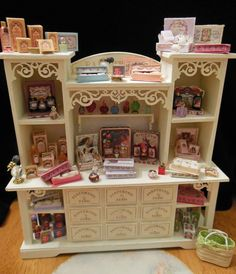 1:12 perfume and fragrance counter I made from a Cynthia Howe kit. mandy wayman~ I want this kit....