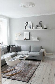 Living Room Scandinavian Style Ikea Interior Design 69 Ideas For 2019 Living Room White, Living Room Carpet, Small Living Rooms, Living Room Modern, Living Room Sofa, Interior Design Living Room, Rugs In Living Room, Living Room Decor, Apartment Living